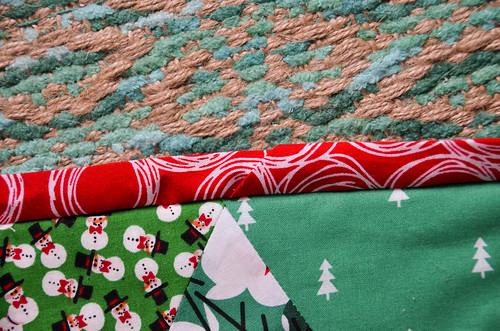 Fold the bias binding over the quilt edge, and sew to back of quilt, as usual.