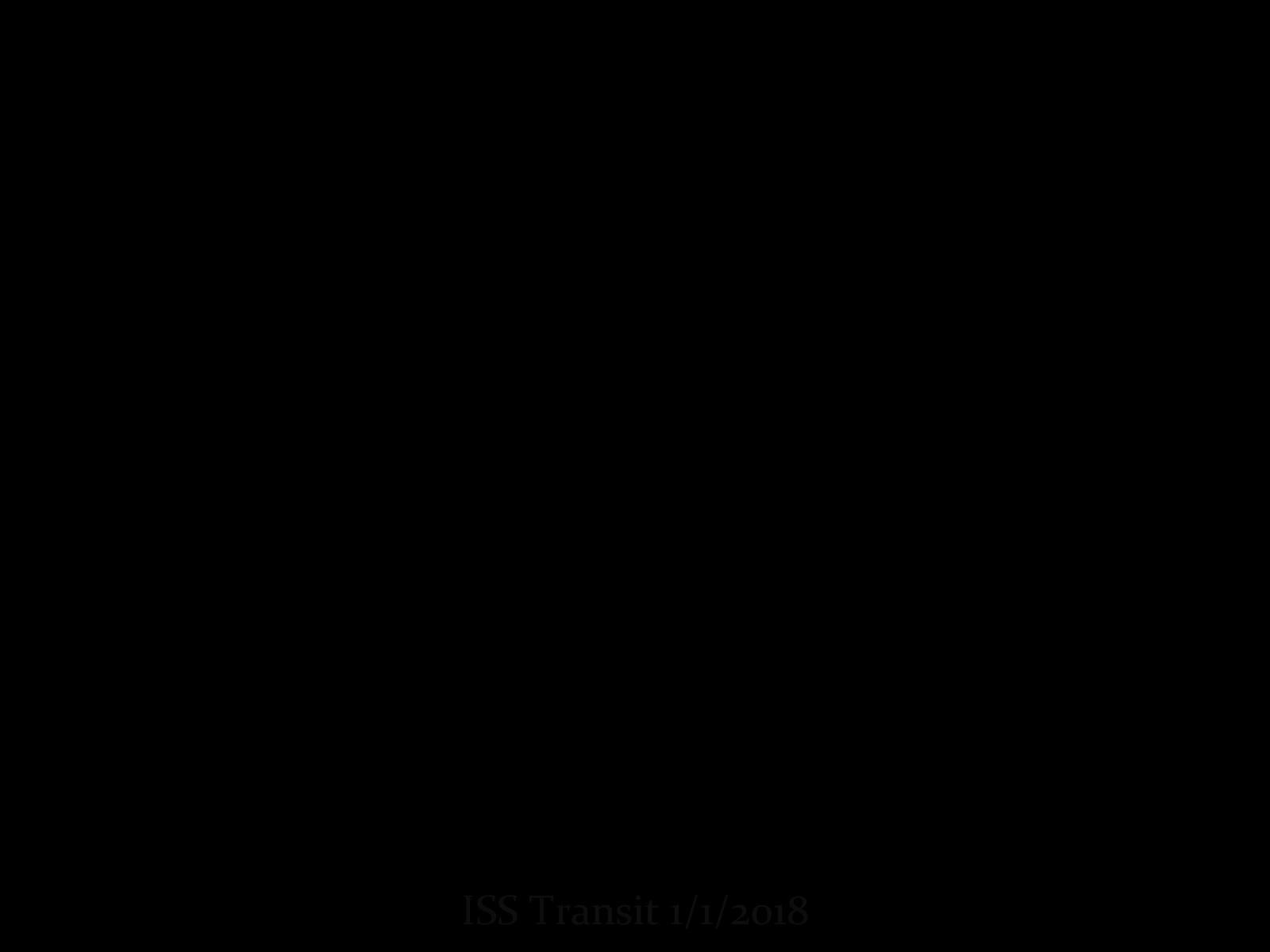 ISS Sun Transit 1/1/2018
