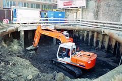 Excavated construction site