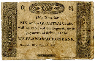 Mansfield Ohio 6 and a qurter cent note