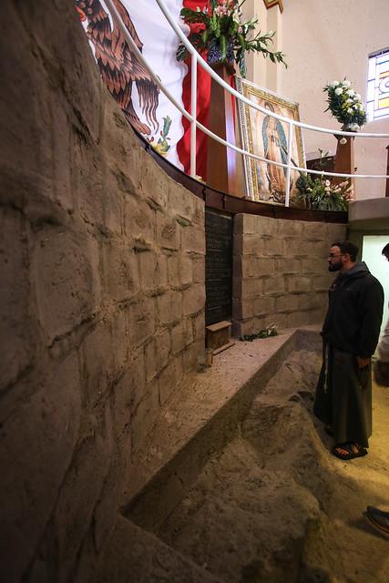 Praying at the Site of Juan Bernardino's House