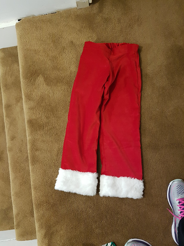 Santa trousers, size 8