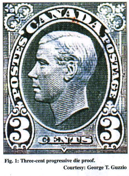 Canada 3-cent essay for unissued Edward VIII stamp