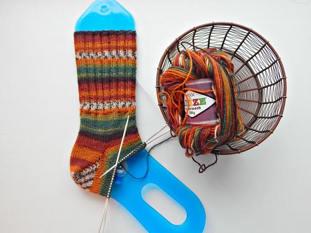 стенка-пятка-клин-носок | flap-short-rows-gusset-sock