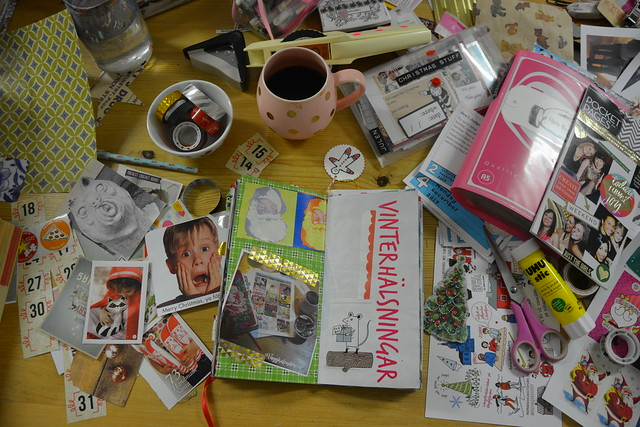 The mess on my desk December 2017 (copyright Hanna Andersson)