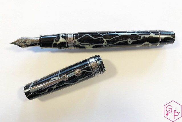 Review @ASCPens Bologna Wild Dark Side Fountain Pen - Magic Flex 9