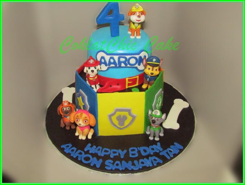 Cake Paw Patrol AARON 15cm+12cm