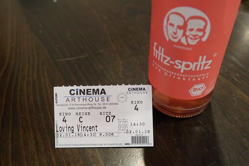 "Rhabarbersaftschorle zum Kinofilm ""Loving Vincent"" im Cinema-Arthouse"