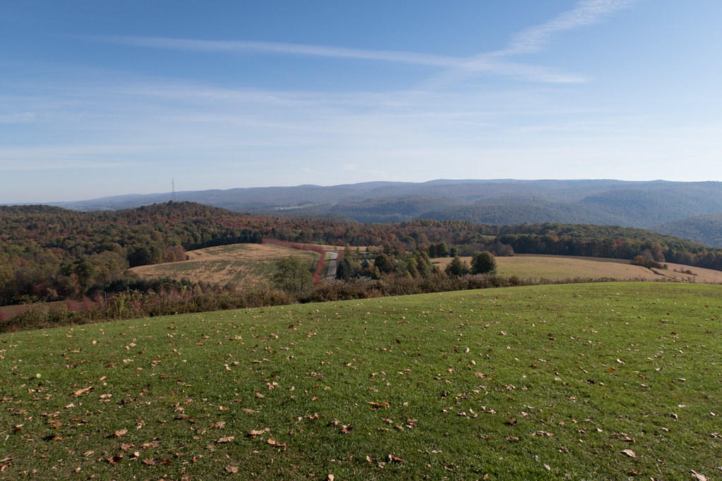 View of hills from rear of Kentuck Knob