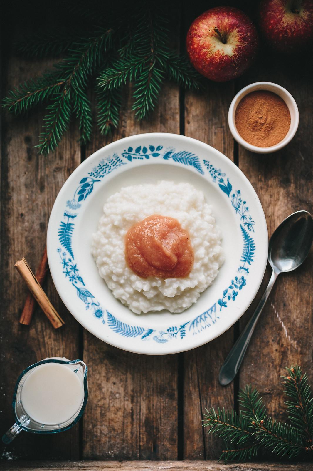 risgrynsgröt med äppelmos - karinevelina.se