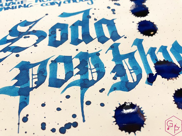 Ink Shot Review @RobertOsterInk Soda Pop Blue @PhidonPens 11
