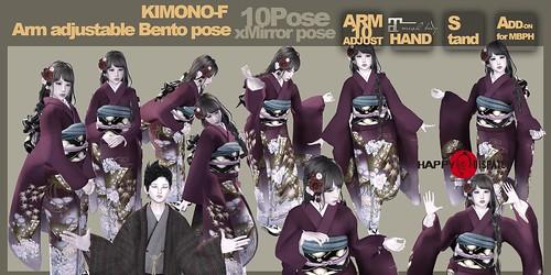[HD]Bento pose KIMONO-F