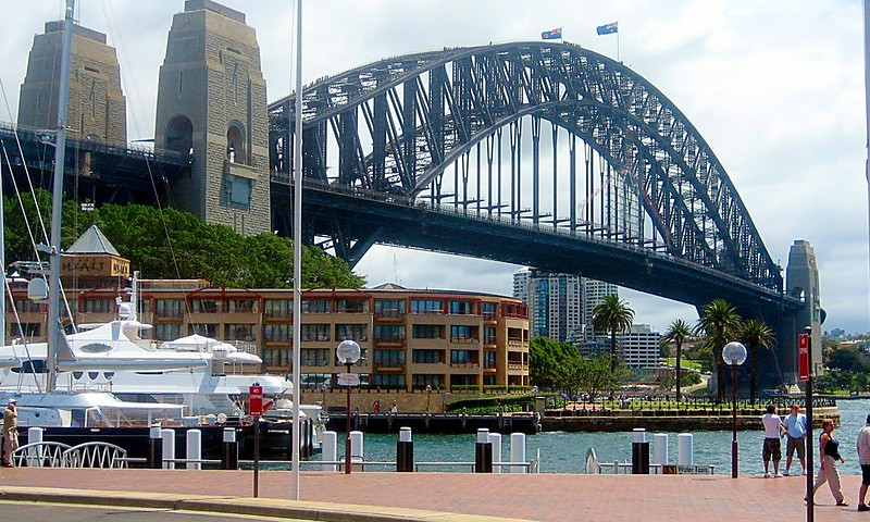 Sydney landmarks harbour bridge