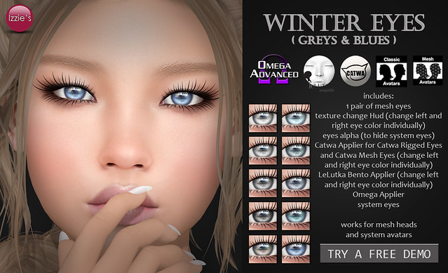Winter Eyes greys & blues (for FLF)