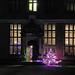 Aston Hall at night Entrance
