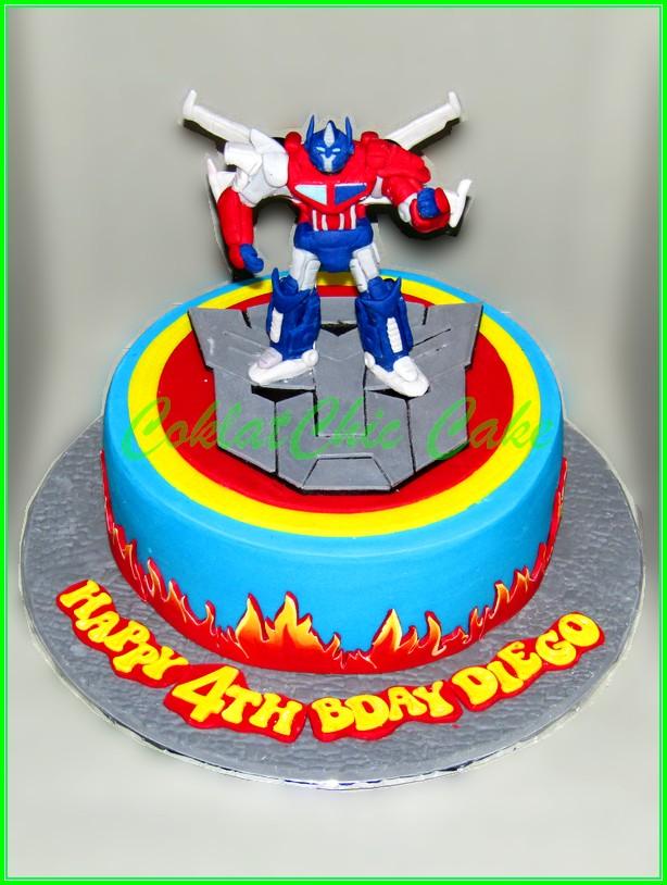 Cake Transforsmer Optimus Prime DIEGO 20cm