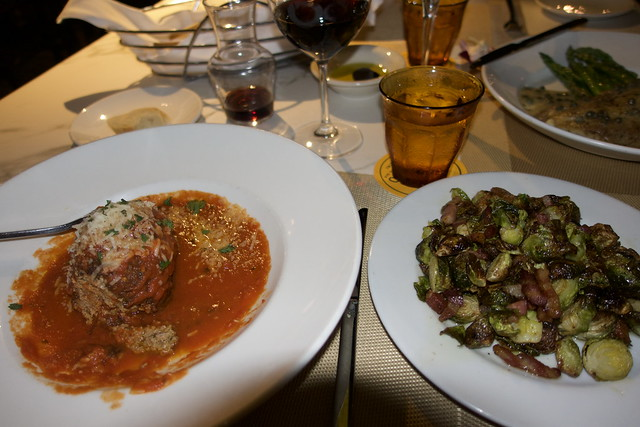 Meat Ball And Brussells Sprouts