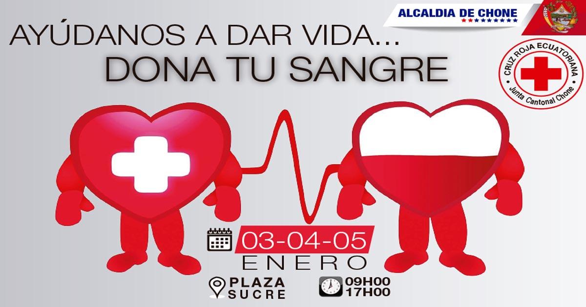 Campaña de donación de sangre por tres días en Chone