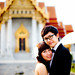 Thailand Bangkok Marble Temple Engagement Session