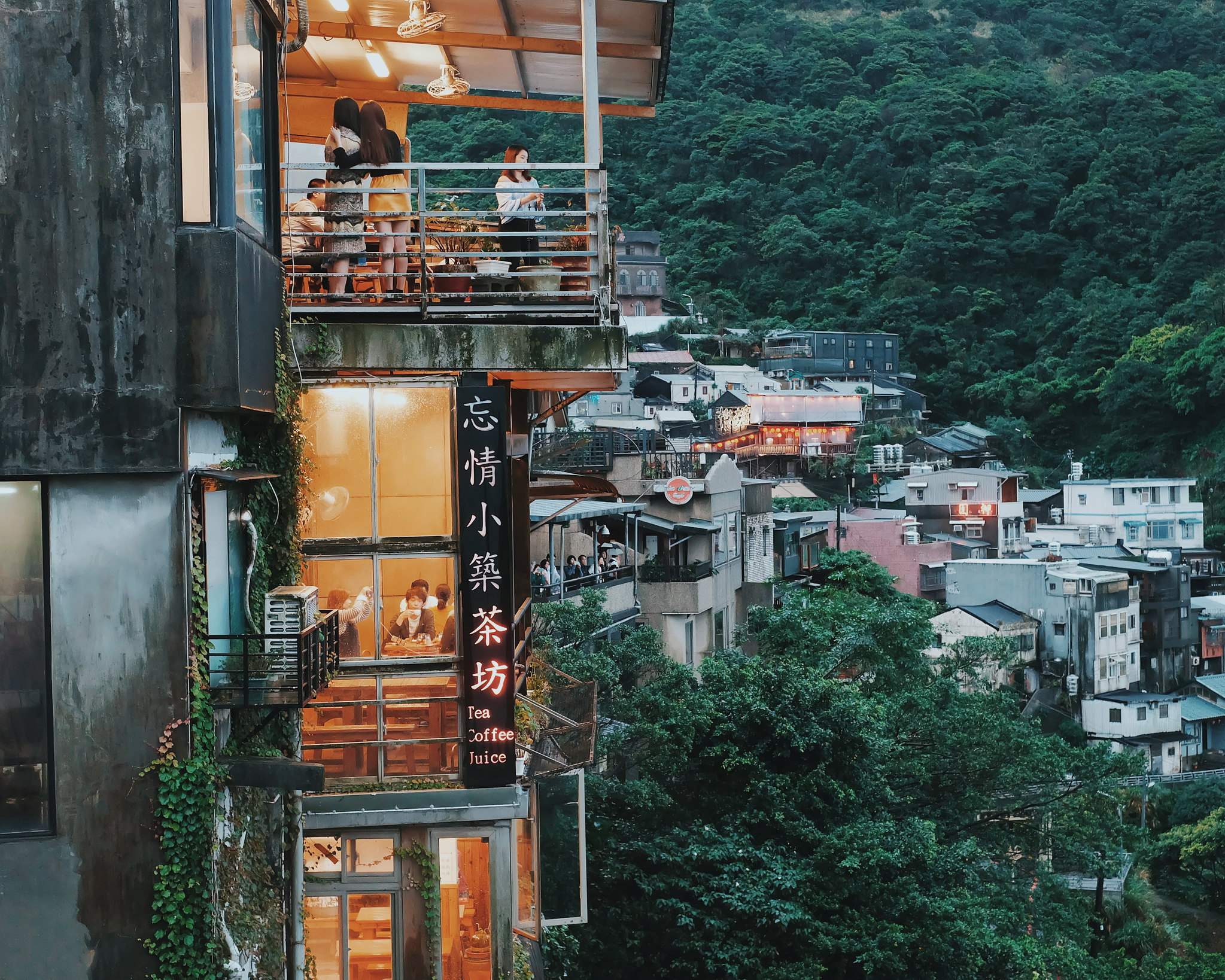 jiufen old street tea house spirited away taiwan