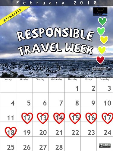 Responsible Travel Week 2018 Calendar #rtweek18
