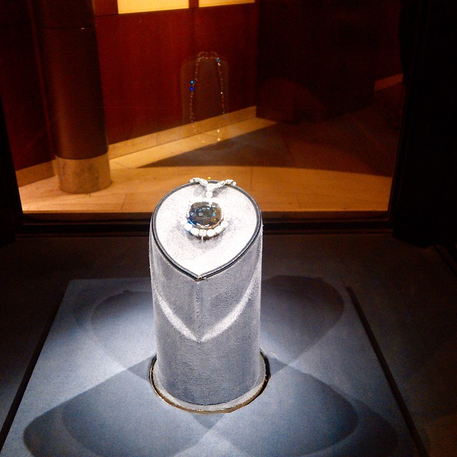 The Hope Diamond at the Smithsonian Natural History Museum