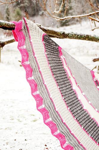 Westknits mystery shawl Exploration station