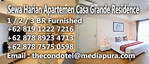 sewa apartemen harian casa grande residence