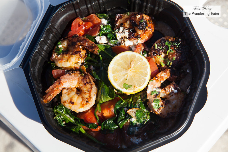 Shrimp Mykonos - Tomatoes, Spinach, Feta, Kalamata Olives