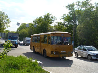 Moscow bus LiAZ-677M of oil refenery in Lubertsy