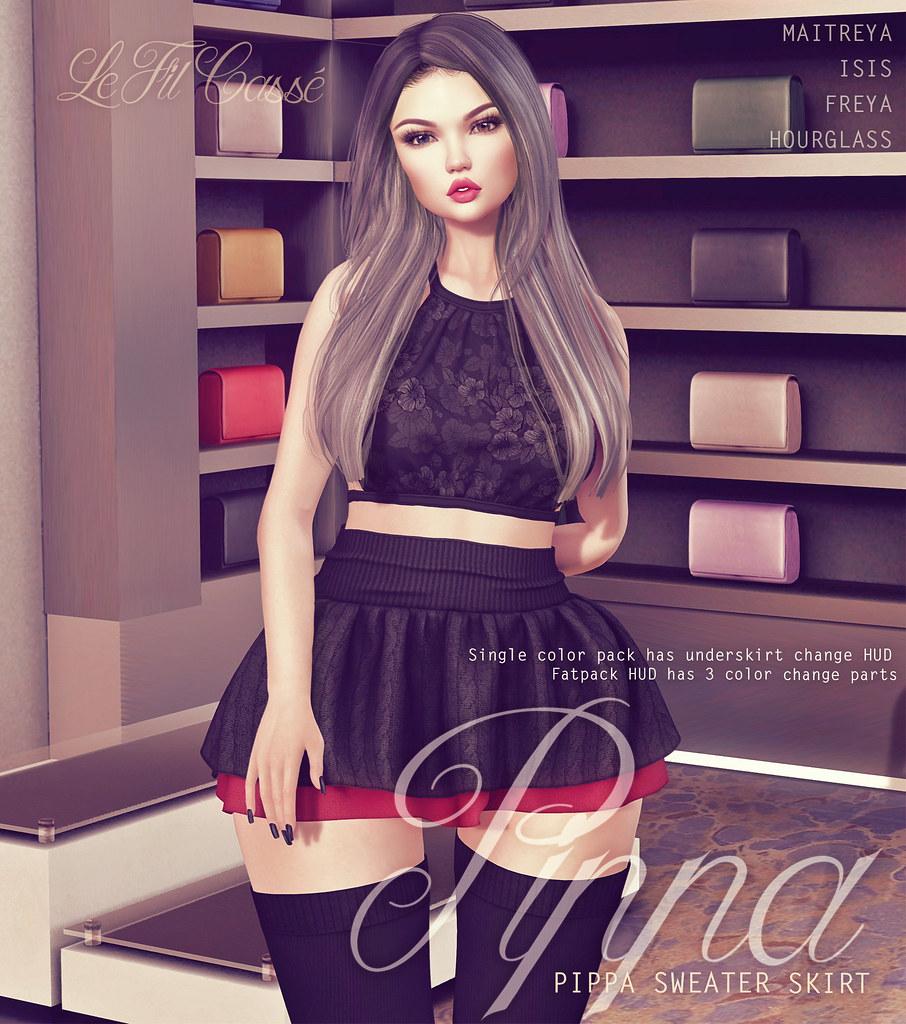 {le fil casse} Pippa Sweater Skirt for Project Se7en!