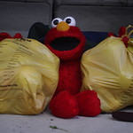Elmo loves his apples!