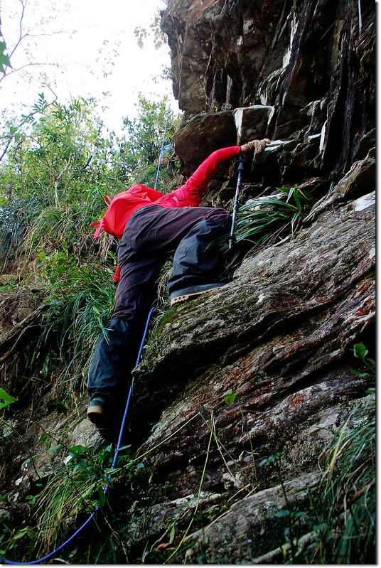 西大社山凸岩絕壁地形 4