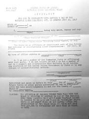 NLRB's non-communist affidavit for unions: 1955 ca.