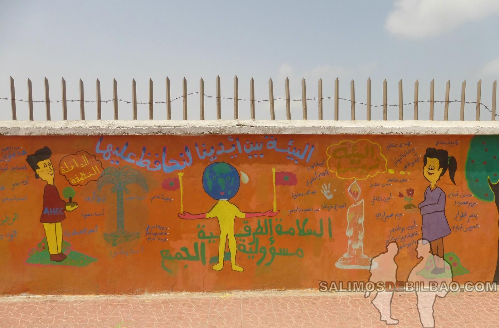 178. Grafitis, Paseo del al centro, Dakhla