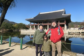 Lisa, Alan, and Dave at Gyeongbokgung Palace