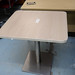White desk high ped E80
