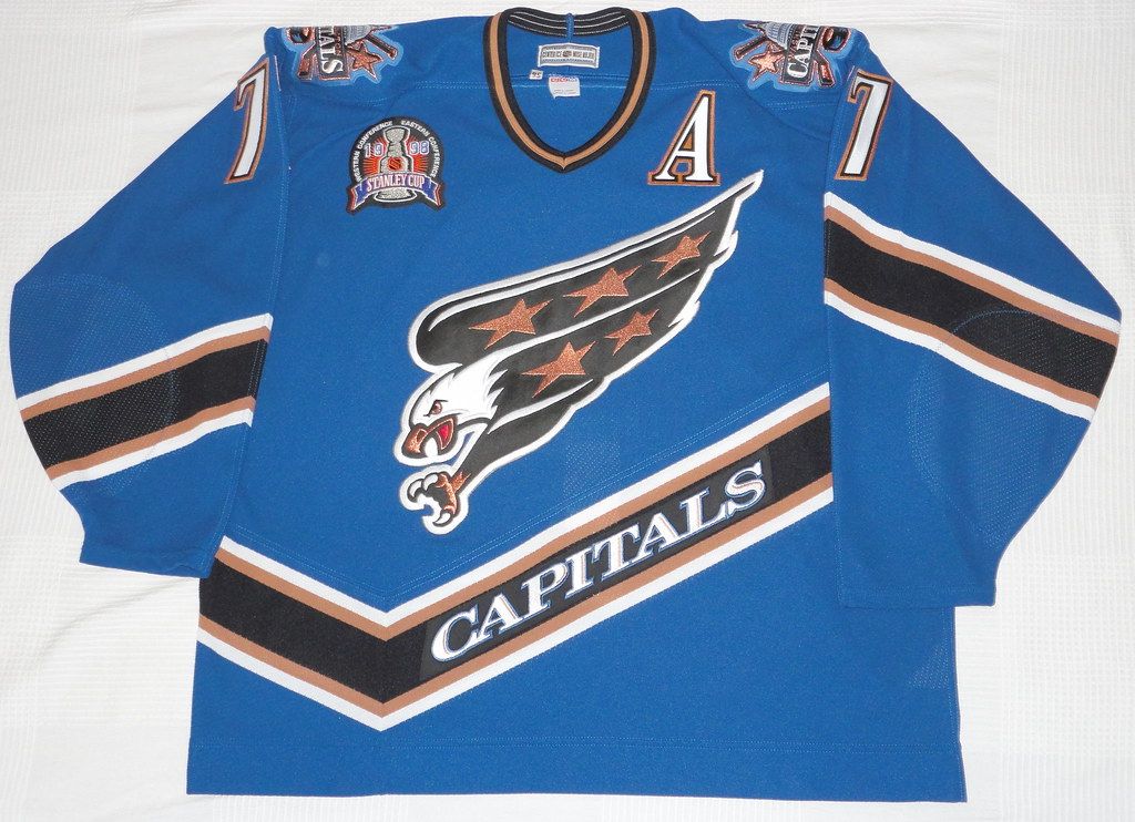 1997-98 Adam Oates Washington Capitals Away Stanley Cup Jersey Front