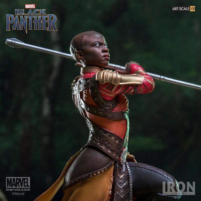 Wakanda Forever!!! Iron Studios Battle Diorama 系列《黑豹》奧科耶 Okoye 1/10 比例決鬥場景雕像作品