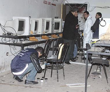 الصورة الثانية منظر ehgeتفجير نادي أنترنت بالدار البيضاء