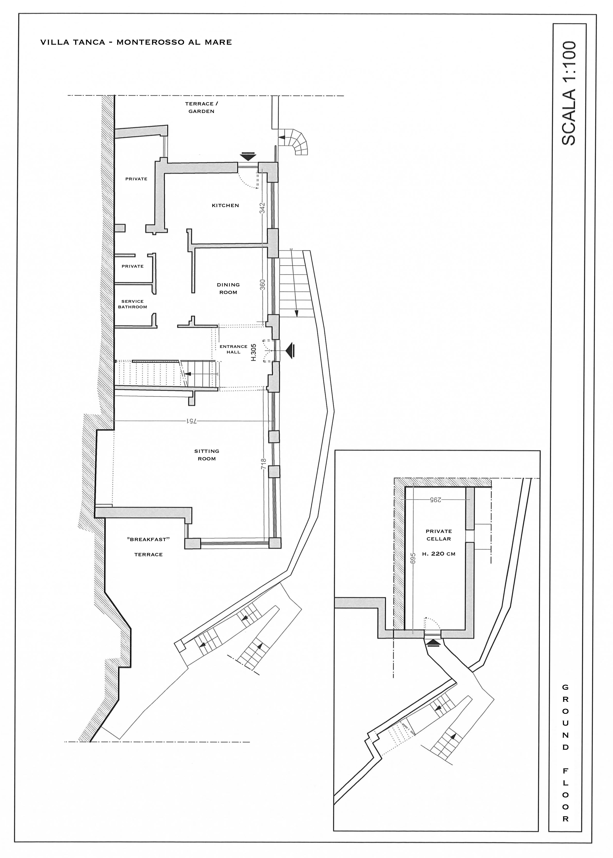 Villa Tanca Monterosso al Mare ground floor