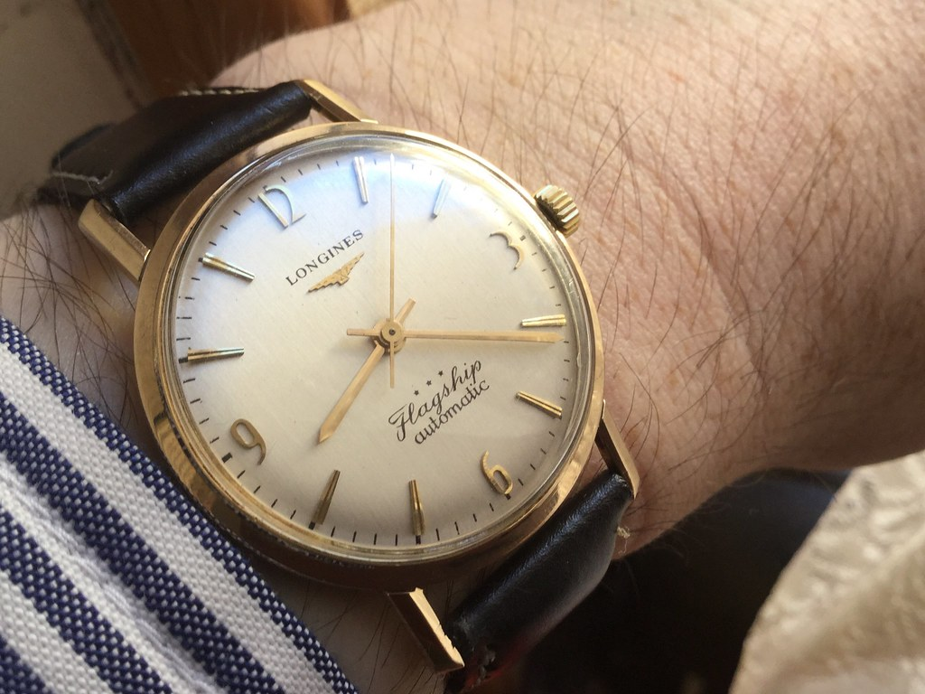 9ct Longines Flagship, calibre 340, from 1962.