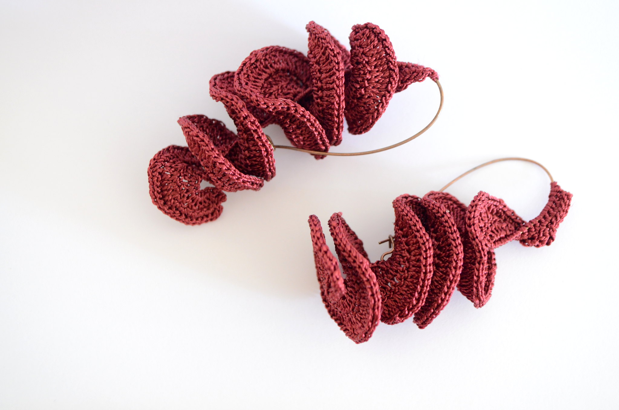 Crochet earrings - Spiral