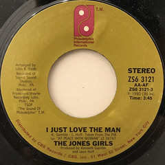 THE JONES GIRLS:I JUST LOVE THE MAN(LABEL SIDE-A)