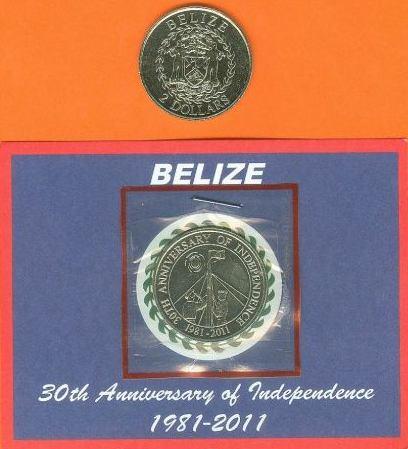 Belize 2 doláre 2011