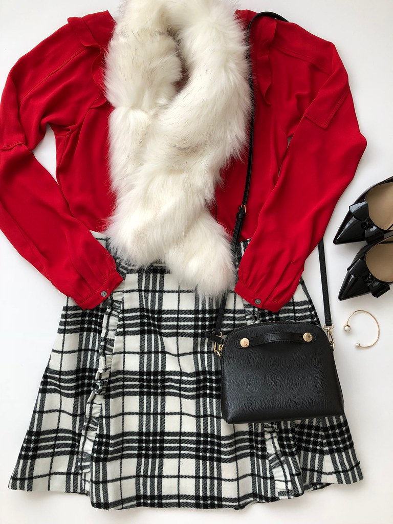 Styling a Plaid Skirt - Outfit 1