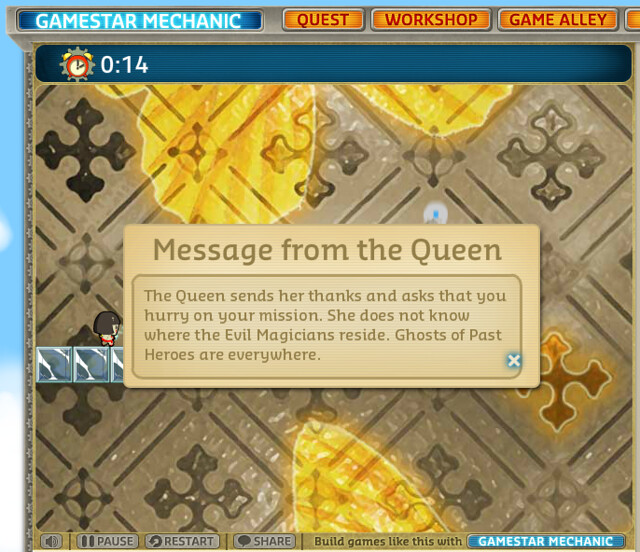 Text Samples: The Queen's Mission