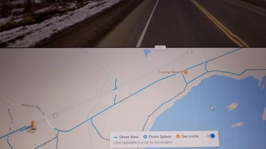 Data gaps in the road. #ridingthroughwalls #xcanadabike #googlestreetview #ontario #thunderbay