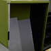 Green metal tambour no doors comes with shelves E100