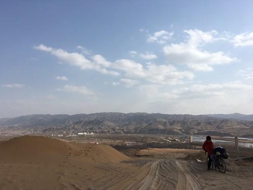 砂漠の町に